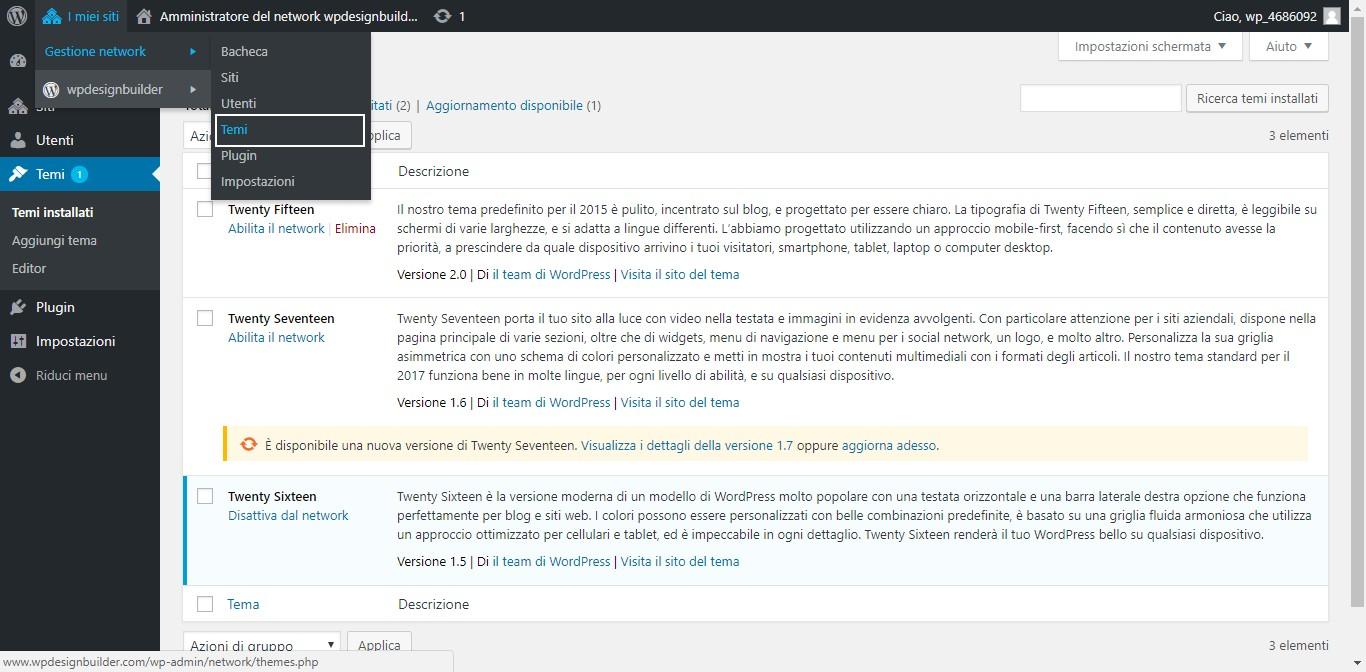 aggiungere tema wordpress multisite - Come installare e attivare un tema con wordpress multisite