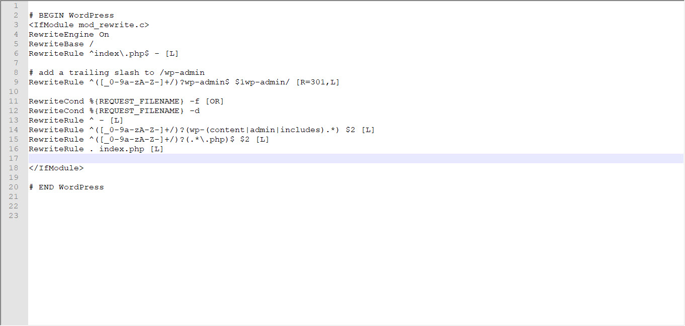 attivazione del network htaccess wordpress multisite