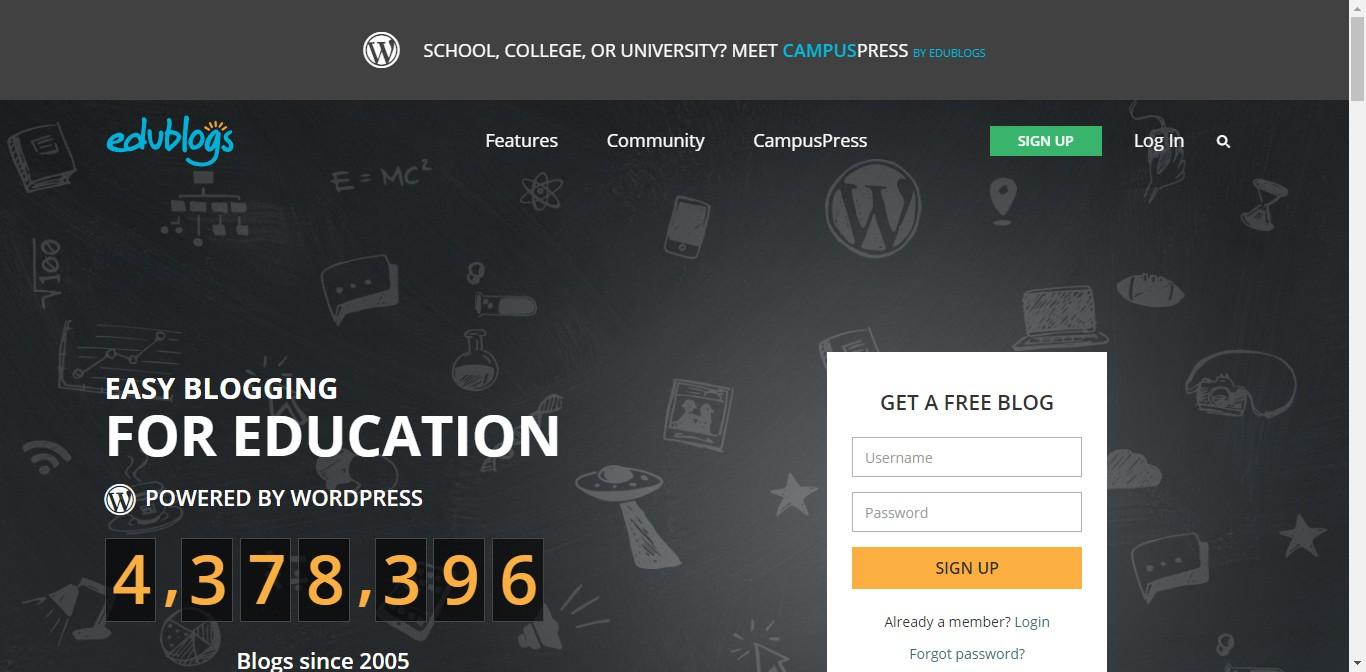 edublogs wordpress multisite - Esempi di utilizzo di Wordpress Multisite